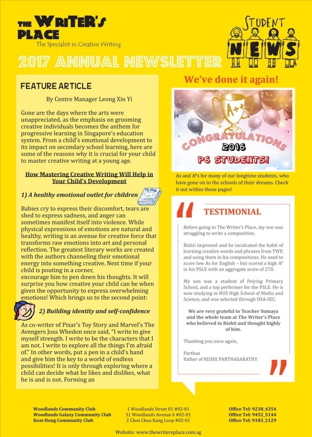 2015 Newsletter front page